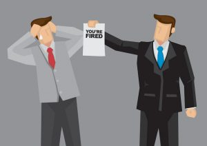 Employment Termination Vector Cartoon Illustration